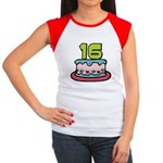 16 Year Old Birthday Cake Women's Cap Sleeve Tee