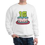 16 Year Old Birthday Cake Sweatshirt