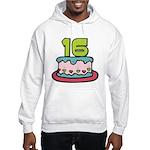 16 Year Old Birthday Cake Hooded Sweatshirt
