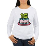 16 Year Old Birthday Cake Women's Long Sleeve Tee