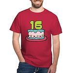 16 Year Old Birthday Cake Dark T-Shirt