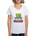 16 Year Old Birthday Cake Women's V-Neck T-Shirt