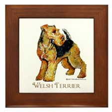 Welsh Terrier Design Framed Tile