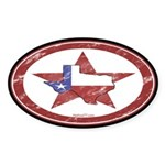 Texas Star Oval Sticker