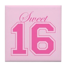 Sweet 16 (Varsity Letters) Tile Coaster