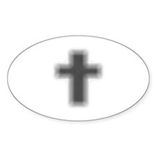 Faded Edge Cross Oval Decal