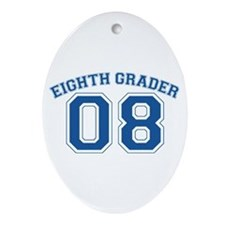 Eight Grader 08 Oval Ornament