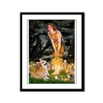 Fairies & Corgi Framed Panel Print