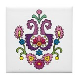Flower Curl Tile Coaster