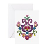 Flower Curl Greeting Card