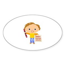 Kindergarten Oval Decal