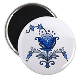 "Flower Shell 2.25"" Magnet (10 pack)"