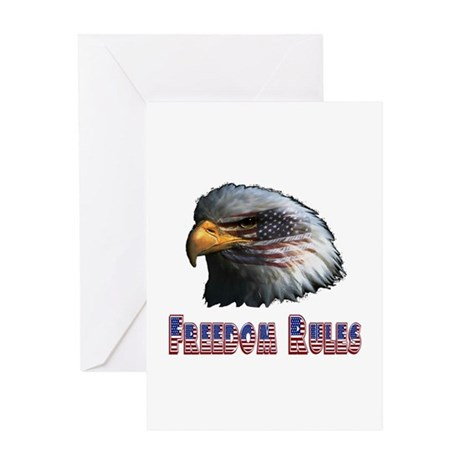Freedom Rules Eagle Greeting Card