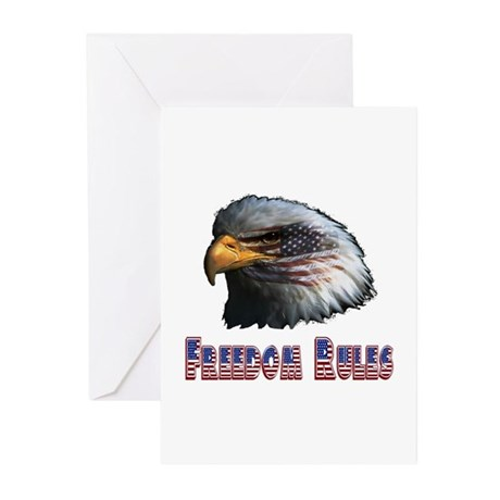 Freedom Rules Eagle Greeting Cards (Pk of 20)