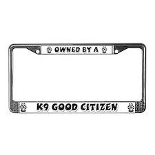 k9 Good Citizen License Plate Frame