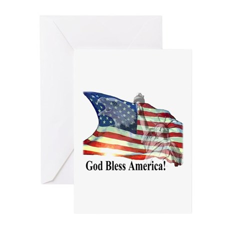 God Bless America! Greeting Cards (Pk of 20)