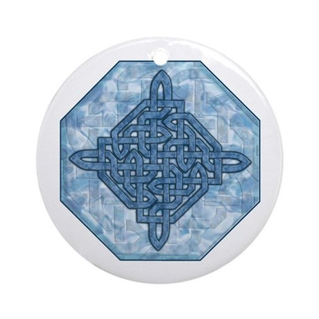 Celtic Aqua Ornament (Round)