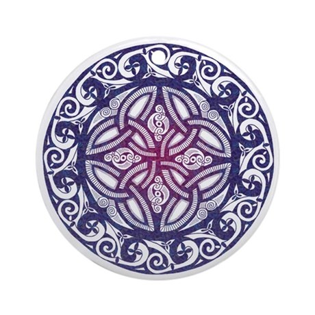 Celtic Shield Ornament (Round)