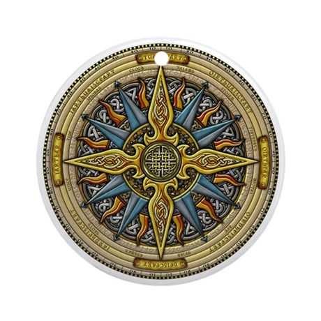Celtic Compass Ornament (Round)