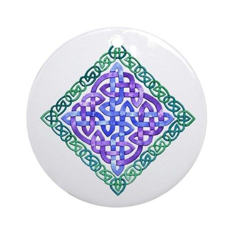Celtic Watercolor Ornament (Round)