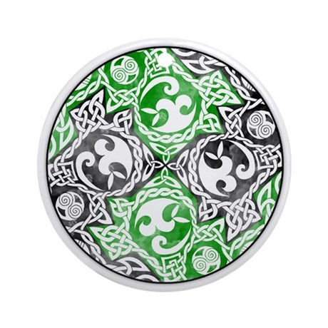 Celtic Puzzle Square Ornament (Round)