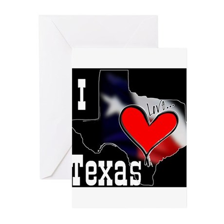 I Love Texas Greeting Cards (Pk of 10)