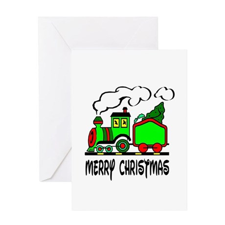 Christmas Train Greeting Card
