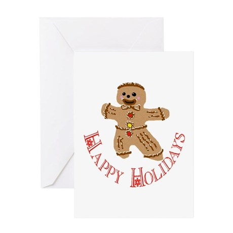 Gingerbread Man Greeting Card