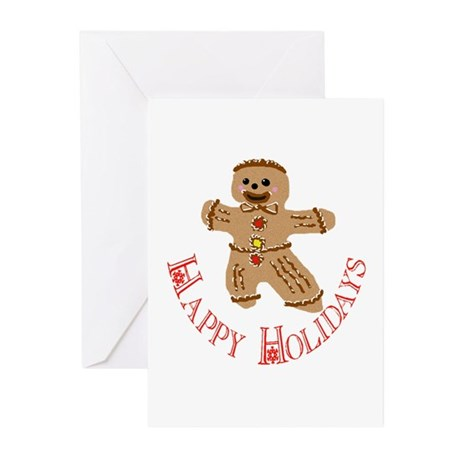 Gingerbread Man Greeting Cards (Pk of 10)