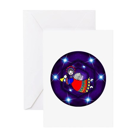 Flying Angel Greeting Card