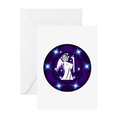 Starry Night Angel Greeting Card