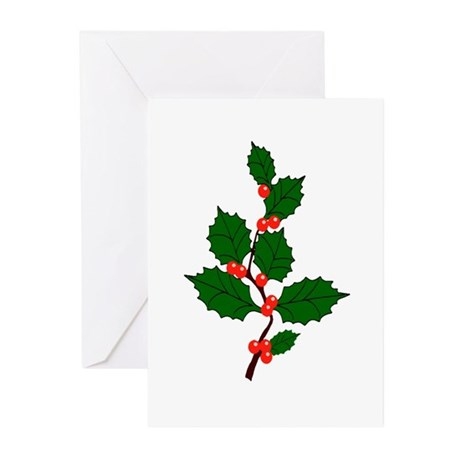 holly Greeting Cards (Pk of 10)