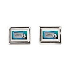 Soccer Debate L Rectangular Cufflinks