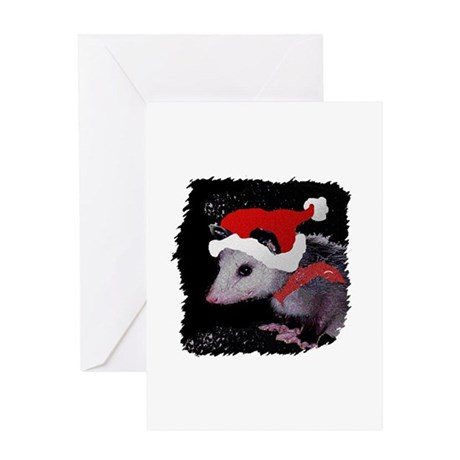 Possum Santa Greeting Card