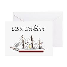 U.S.S. Geeklove Greeting Card