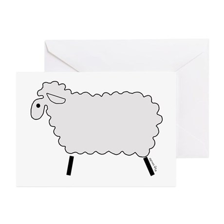 Cute Lamb Greeting Cards (Pk of 10)