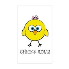 Chick's Rule Rectangle Decal