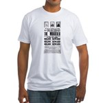 Wanted John Wilkes Booth Fitted T-Shirt
