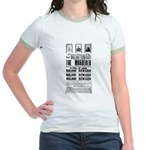 Wanted John Wilkes Booth Jr. Ringer T-Shirt