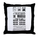 Wanted John Wilkes Booth Throw Pillow