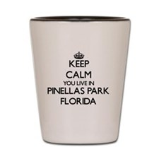Keep calm you live in Pinellas Park Flo Shot Glass