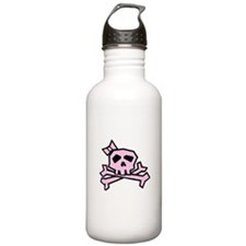 Pinkie the Pink Skull Water Bottle