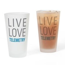 Live Love Telemetry Drinking Glass
