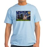 Starry Night & Pug Pair T-Shirt