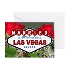 Red Roses MARRIED in Fabulous Las Vegas Card