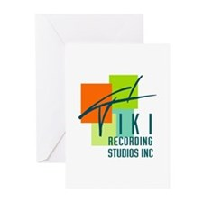 Cute Recording studio Greeting Cards (Pk of 10)