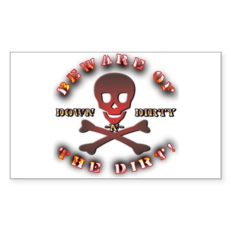 Apparel Gifts > Apparel Stickers > Down N Dirty Rectangle Sticker