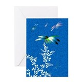 Blue Dragonflies Greeting Card