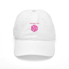 Pink Volleyball (Custom) Baseball Baseball Cap
