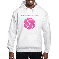 Pink Volleyball (Custom) Hoodie